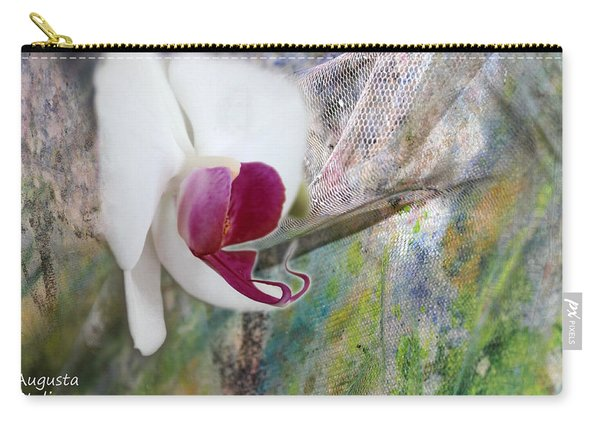 White Orchid Abstract Carry-all Pouch
