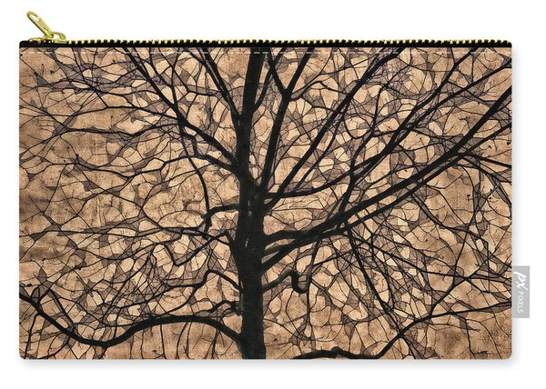 Windowpane Tree In Autumn Carry-all Pouch