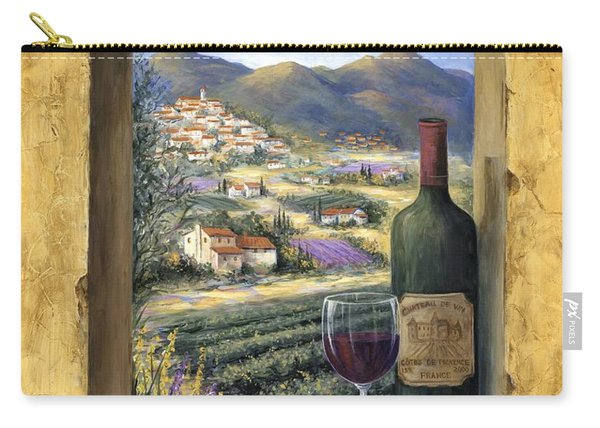 Wine And Lavender Carry-all Pouch