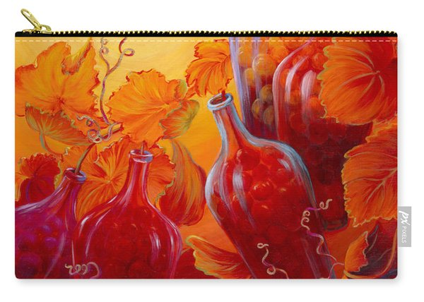 Carry-all Pouch featuring the painting Wine On The Vine II by Sandi Whetzel