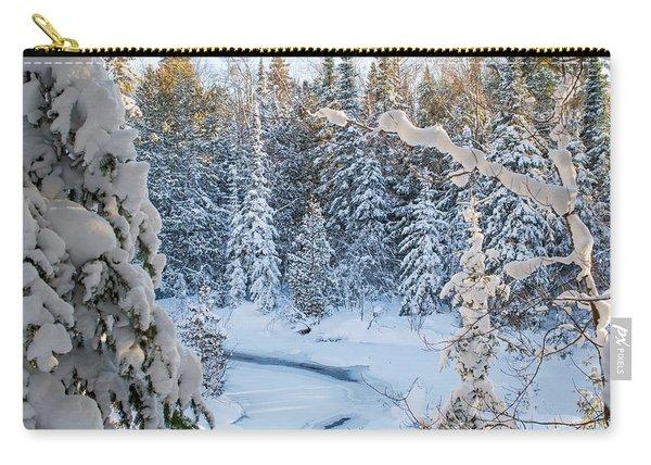 Winter At Grand Marais Creek Carry-all Pouch