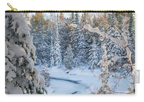 Winter At Grand Marais Creek Carry-all Pouch
