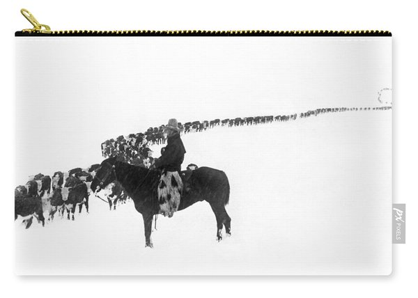 Wintertime Cattle Drive Carry-all Pouch