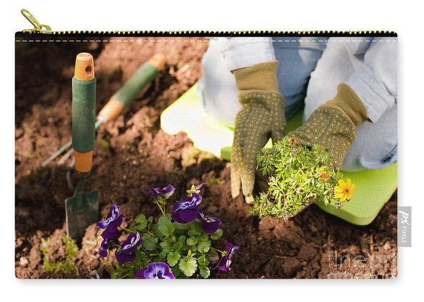 Woman Gardening Carry-all Pouch