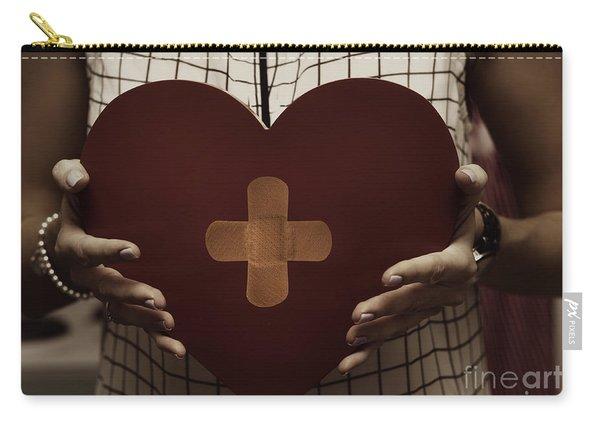 Woman Nursing Broken Heart From Divorce Carry-all Pouch