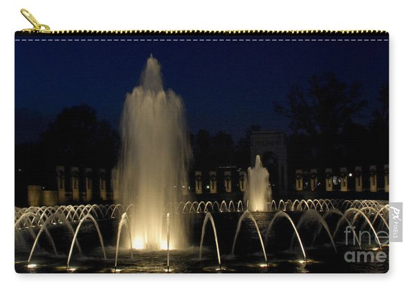 Wwii Memorial Fountains Carry-all Pouch