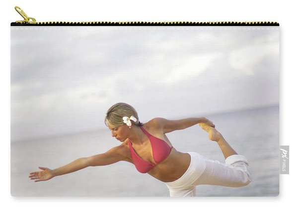 Young Woman Doing Early Morning Yoga Carry-all Pouch