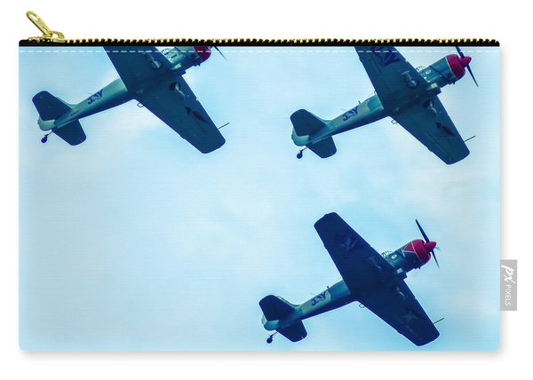 Action In The Sky During An Airshow Carry-all Pouch