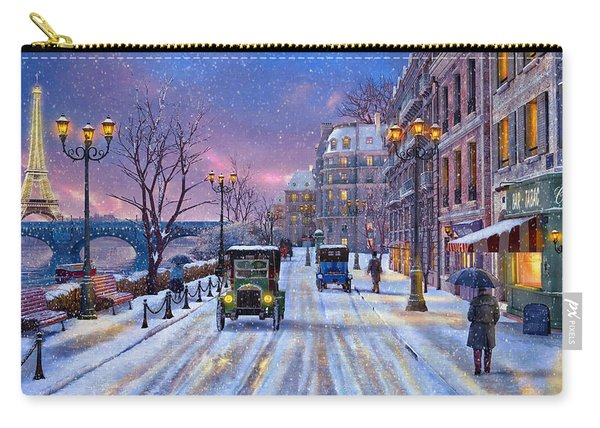 Winter In Paris Carry-all Pouch