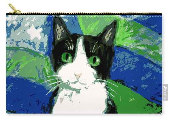 Cat With Stars And Stripes Carry-all Pouch
