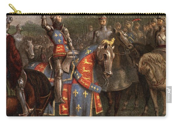 1400s Henry V Of England Speaking Carry-all Pouch