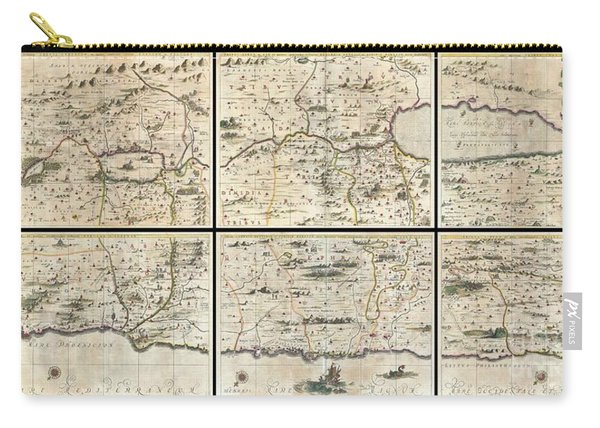 1662 Jansson And Hornius Map Of The Holy Land Israel And Palestine Carry-all Pouch