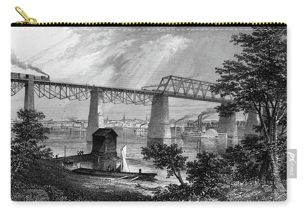 1800s 1870s 1872 View Of Louisville Ky Carry-all Pouch