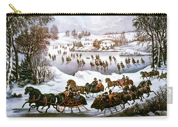 1860s Central Park In Winter - New York Carry-all Pouch