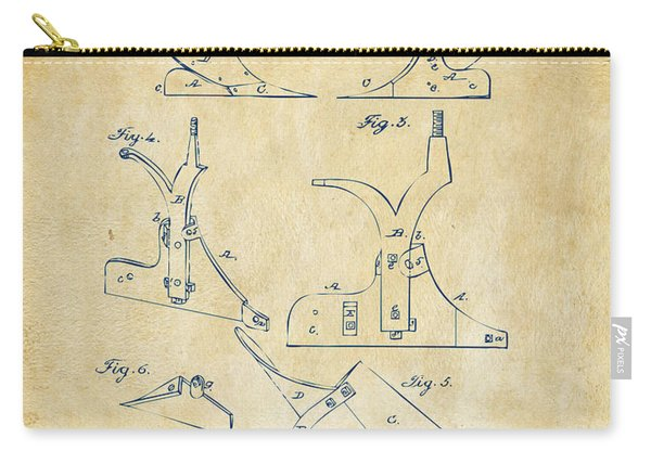 1865 John Deere Plow Patent Vintage Carry-all Pouch