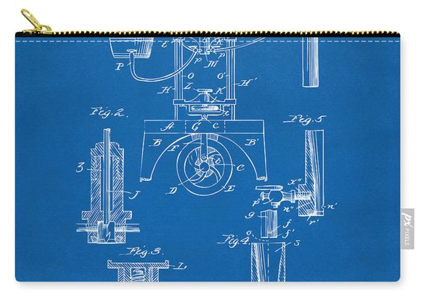 1890 Bottling Machine Patent Artwork Blueprint Carry-all Pouch