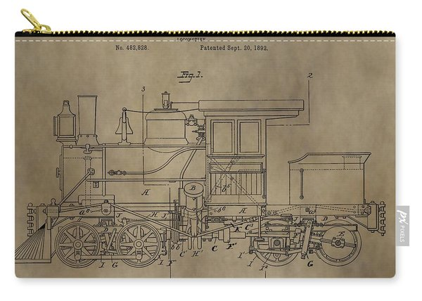 1892 Locomotive Patent Carry-all Pouch