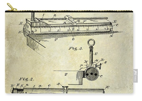 1893 Cigar Makers Gage Patent Drawing  Carry-all Pouch