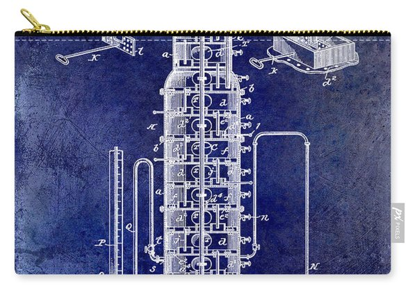 1893 Still Patent Drawing Blue Carry-all Pouch