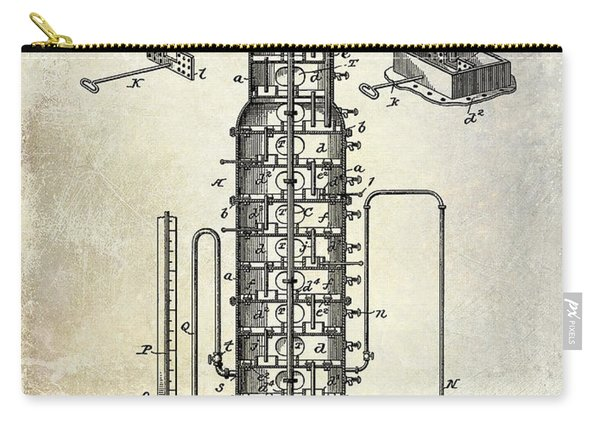 1893 Still Patent Drawing Carry-all Pouch