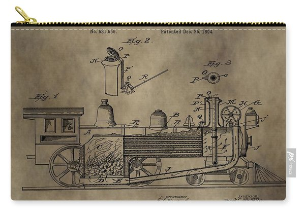 1894 Locomotive Patent Carry-all Pouch
