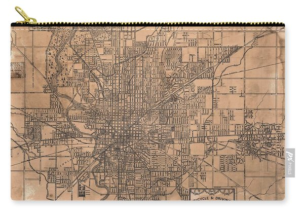 1899 Indianapolis Map Carry-all Pouch
