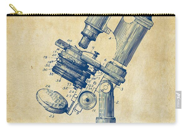 1899 Microscope Patent Vintage Carry-all Pouch