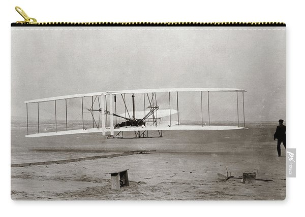 1903 Wright Brothers Plane Taking Carry-all Pouch