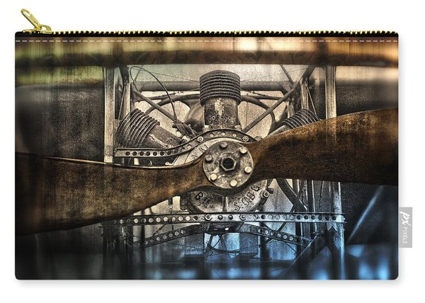 1909 Biplane Engine And Propeller Carry-all Pouch