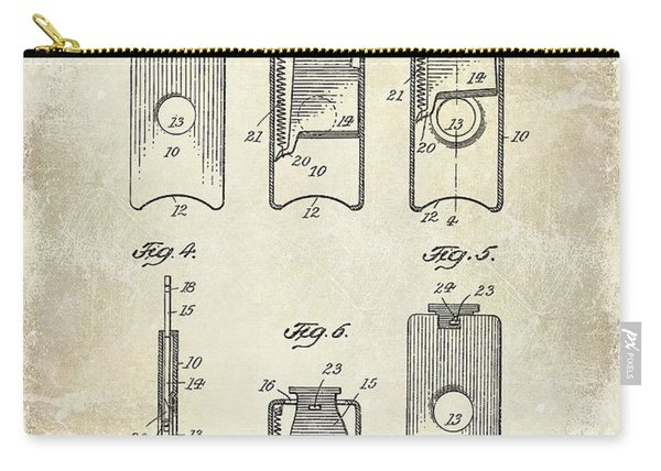 1910 Cigar Cutter Patent Drawing Carry-all Pouch