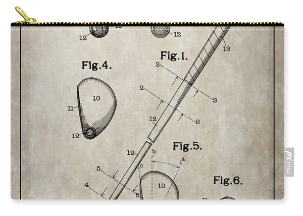 1910 Golf Club Patent Carry-all Pouch