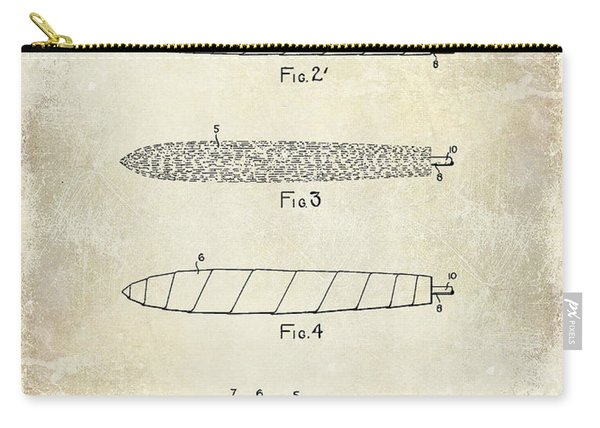 1922 Cigar Patent Drawing Carry-all Pouch