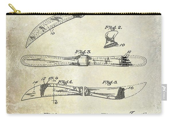 1922 Propeller Patent Drawing Carry-all Pouch