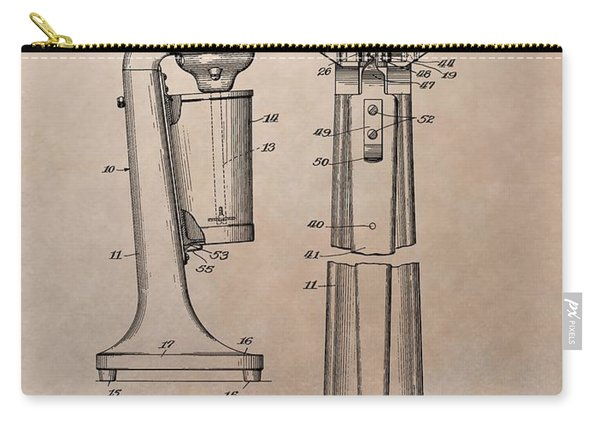 1930 Drink Mixer Patent Carry-all Pouch