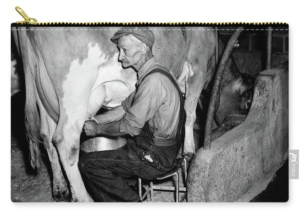 1930s 1940s Elderly Farmer In Overalls Carry-all Pouch