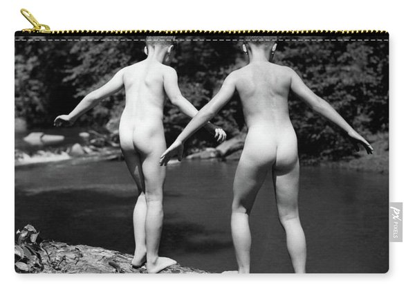 1930s Rear View Pair Naked Skinny- Carry-all Pouch