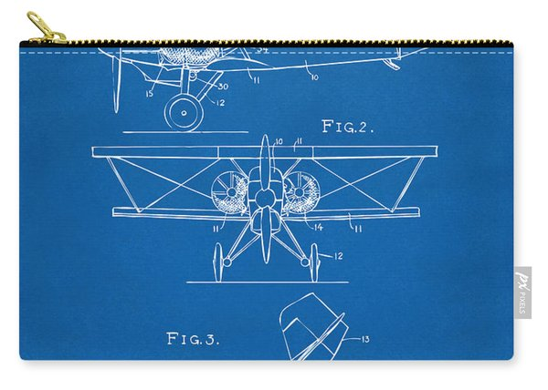 1931 Aircraft Emergency Floatation Patent Blueprint Carry-all Pouch