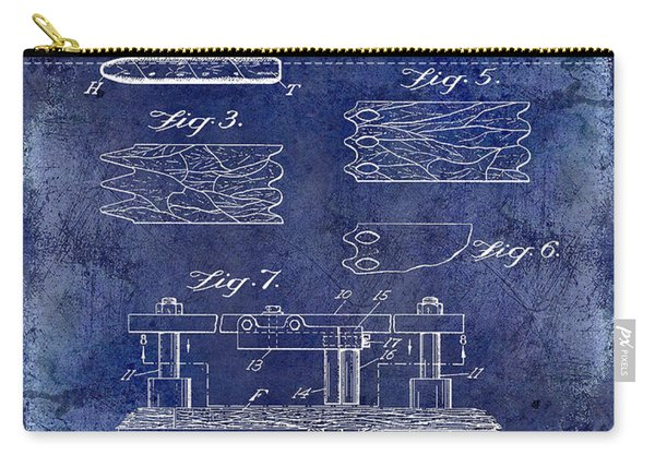 1931 Cigar Filler Patent Drawing Blue Carry-all Pouch