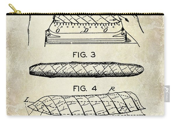 1931 Cigar Wrappers Patent Drawing Carry-all Pouch