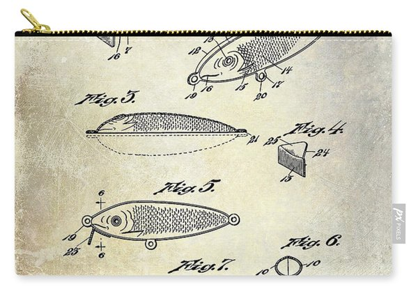 1932 Fishing Patent Drawing  Carry-all Pouch