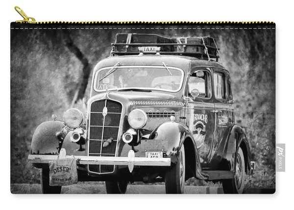 1935 Plymouth Taxi Cab -568bwa Carry-all Pouch