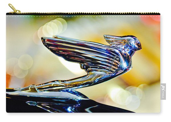 1938 Cadillac V-16 Hood Ornament 2 Carry-all Pouch