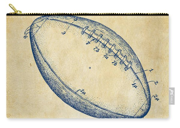 1939 Football Patent Artwork - Vintage Carry-all Pouch