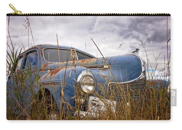 Carry-all Pouch featuring the photograph 1940 Dodge 4 Door Luxury Liner by Mary Lee Dereske