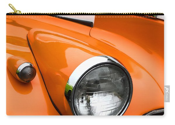 1940 Orange And White Chevrolet Sedan Square Carry-all Pouch