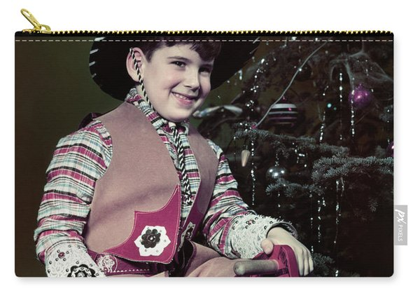 1940s 1950s Smiling Boy Dressed Carry-all Pouch