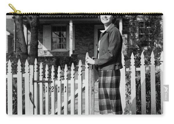 1940s Smiling Pretty Young Teenage Girl Carry-all Pouch