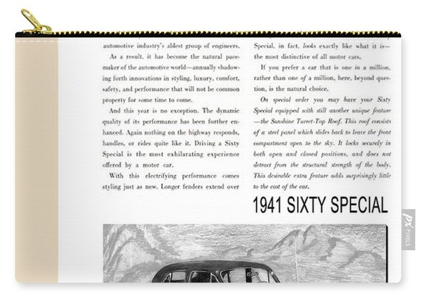 1941 Cadillac Fleetwood Sedan Vintage Ad Carry-all Pouch