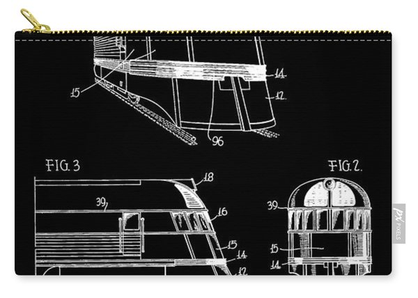 1941 Zephyr Train Patent Carry-all Pouch
