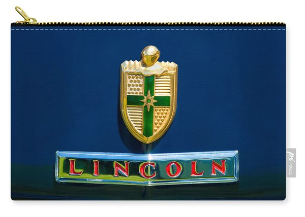 1942 Lincoln Continental Cabriolet Emblem Carry-all Pouch